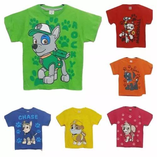 Lote 10 camisas infantil patrulha canina dia das crianças