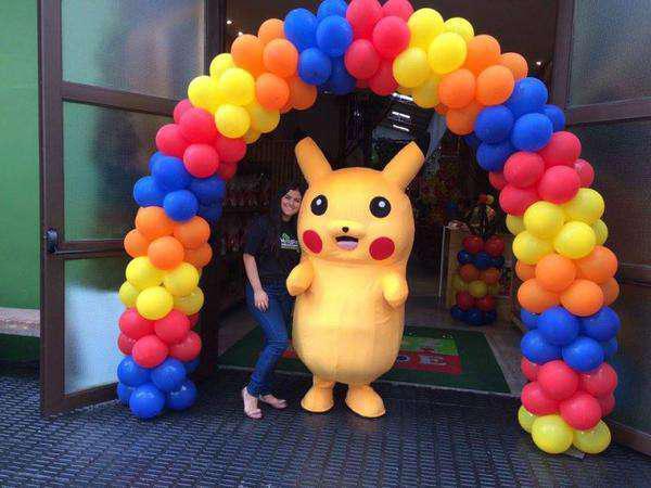 Personagens pokémon pikachu na sua festa em belo horizonte