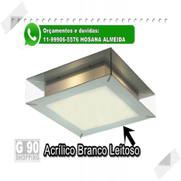 Placa branca leitosa para luminária e sub teto de elevador