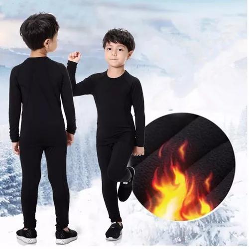 Roupa térmica conjunto peluciado infantil
