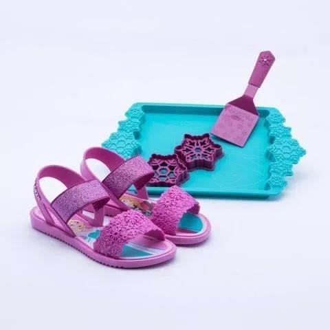 Sandalia infantil frozen lilas/rosa princesas ladybug barbie