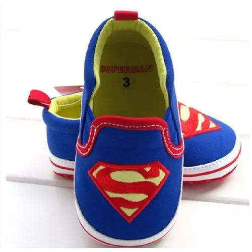 Tenis sapatinho bebe criança superman super hom