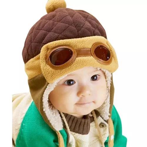 Touca gorro aviador piloto bebe infantil criança boné