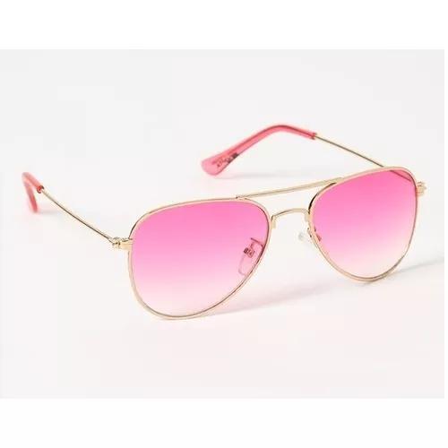 Culos sol aviador infantil menina rosa crianças uv400