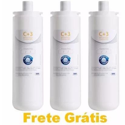 Kit 3 filtro refil ibbl c+3 p/ purificador fr 600