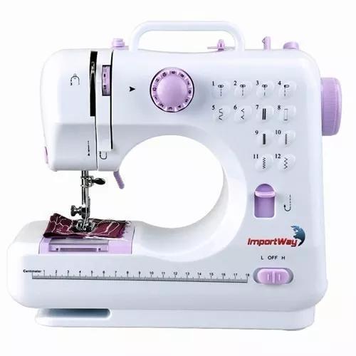 Máquina de costura elétrica portátil 12 pontos linha