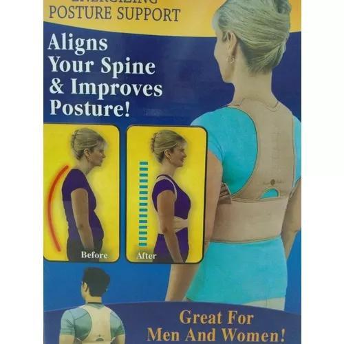 2x cinta postural corretor postura colete neoprene corretora