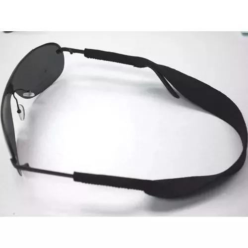 Alça neoprene preta p/oculos - bike - surf - pesca -
