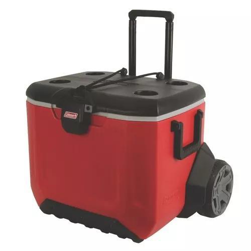 Caixa térmica com rodas resistente rugged 55qt col