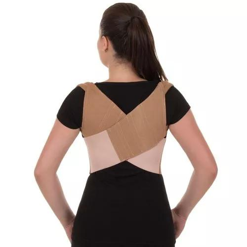 Espaldeira de brim - corretor postural p m g gg