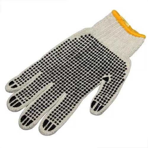 Luva tricotada de algodão - pigmentada c/ 100 pares