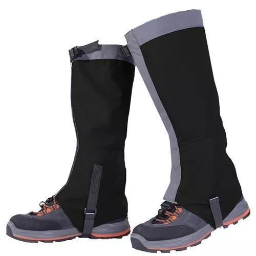 Polaina p/ proteção trekking impermeável - preta -