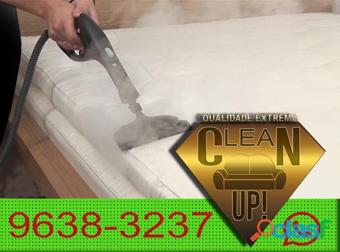 Higienização a vapor para colchão