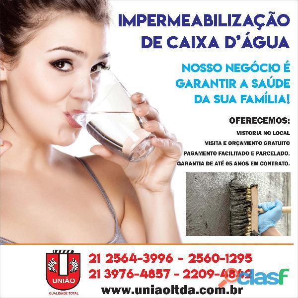 União Limpeza e Impermeabilização caixa d'água para condomínios e empresas no Rio de Janeiro