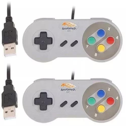 2 controles super nintendo snes usb para rapberry pc.