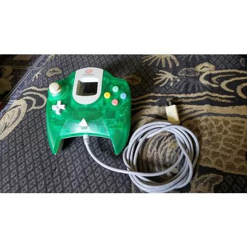 Controle original verde do dreamcast funcionando 100% d11