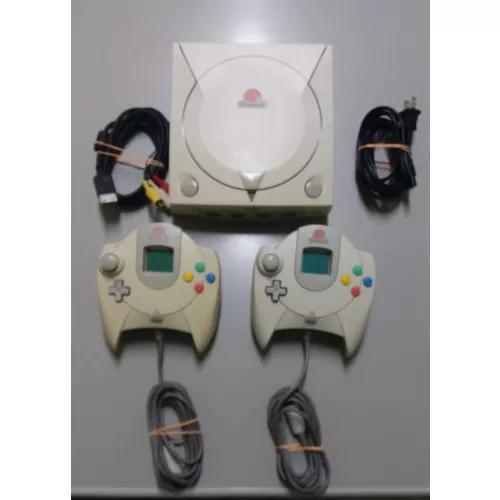 Dreamcast - 2 controles 2 vmu's + jogos originais -s