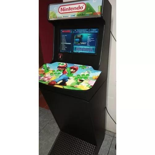 Fliperama arcade bartop com base + de 5000 jogos