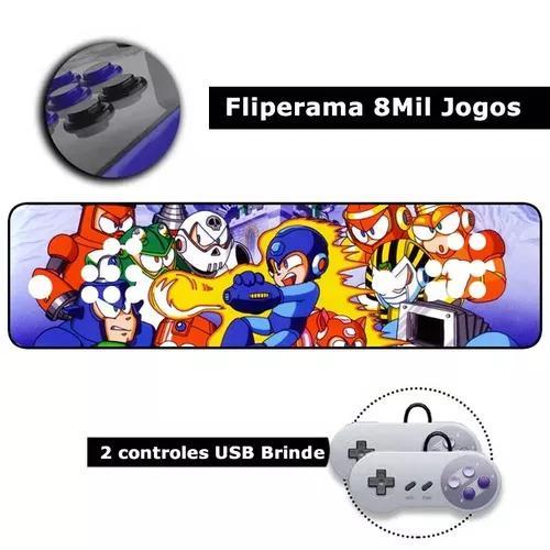 Fliperama portátil 8000 jogos hdmi arcade só ligar na tv