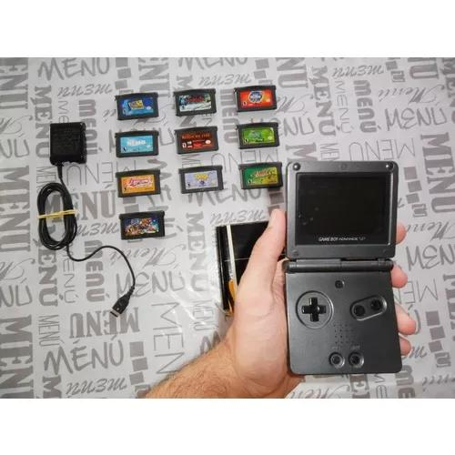 Game boy advance sp ags 101 + dez jogos