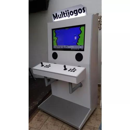 Maquina fliperama multijogos 32 polegadas arcade 4600 jogos