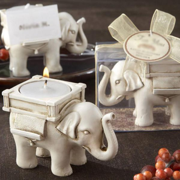 Porta vela elefante