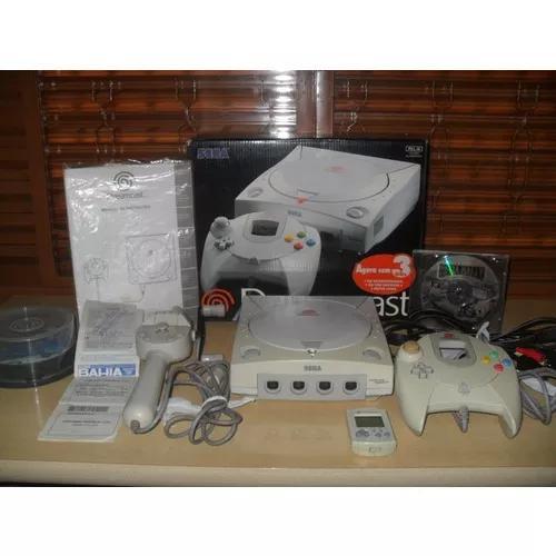 Video game sega dreamcast com caixa,manual e muito mais.