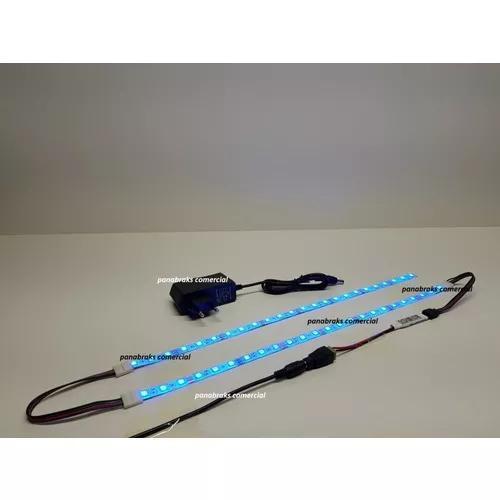 2 x 30cm luminária para aquário fita led rgb 5050 + dimmer