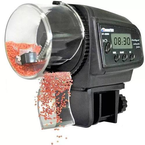 Alimentador automático digital af2009d aquário peixes