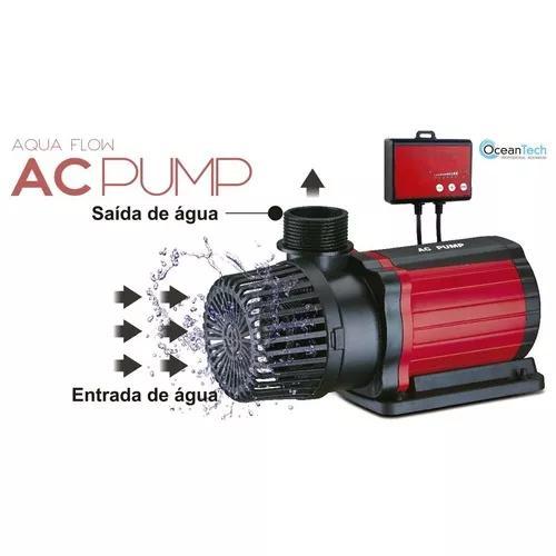 Bomba submersa eco ocean tech ac-9000 para aquário l/h 80w