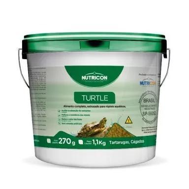 Ração sticks p/tartarugas /cágados nutricon balde 1,1kg