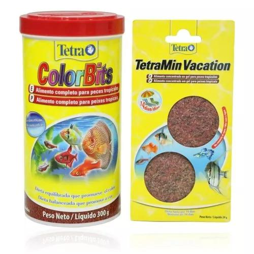 Tetra color tropical granules 300 g color bits fish val 2021