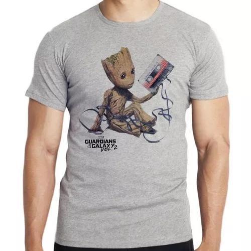 Camiseta infantil blusa criança guardiões galáxia groot