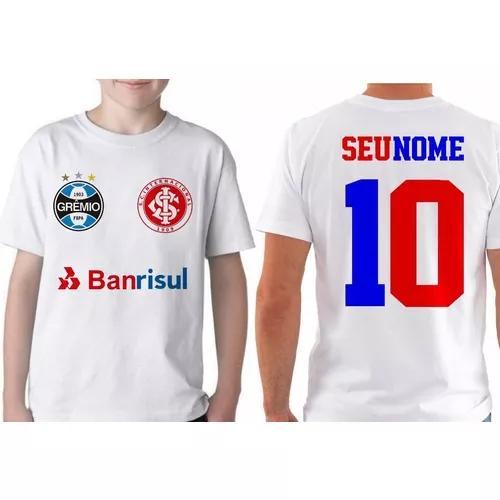 a4dd1f412 Camiseta infantil personalizada com nome inter grêmio