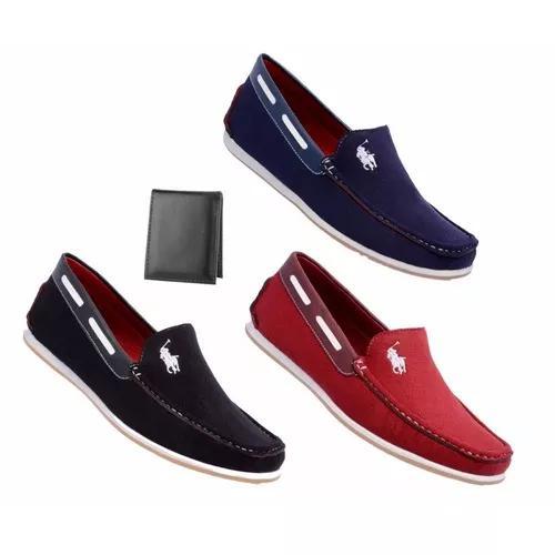 Kit 3 sapato masculino mocassim casual dockside promoção