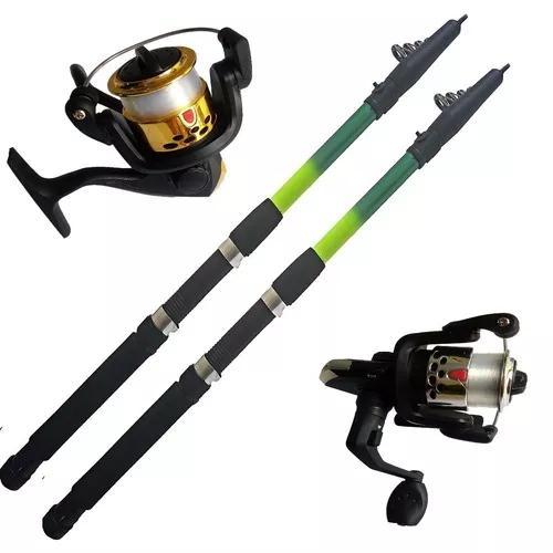 2 molinete ultra light vara de pesca 2,70 mts 18 lbs