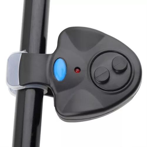 Alarme para pesca sonoro com led sensor de mordida isca vara