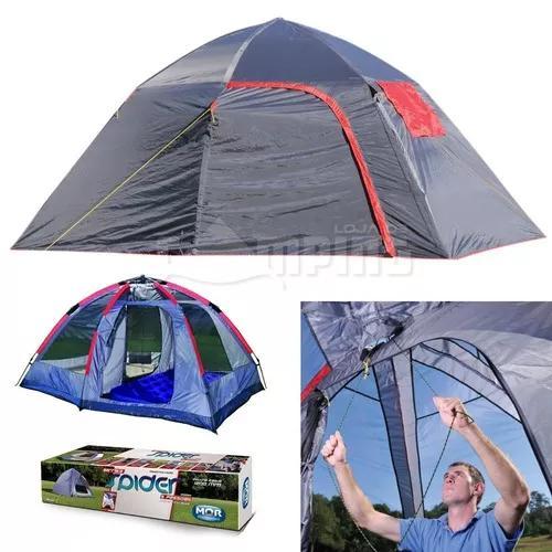 Barraca acampamento camping impermeavel automatica 7 pessoas