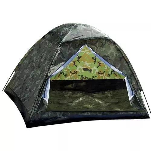 Barraca camping camuflada 3lugares-menor preço mercado