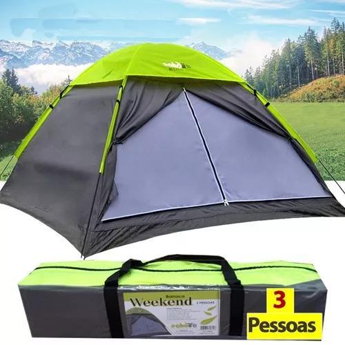 Barraca para camping 3 pessoas impermeável weekend echolife