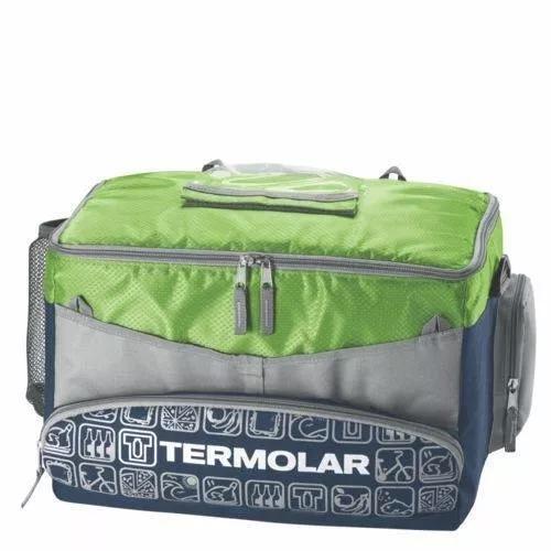 Bolsa termica sacola nutrição camping 20l verde ou laranja