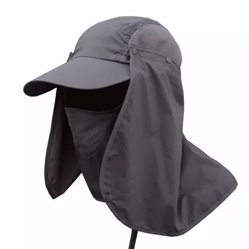 Boné chapéu nylon impermeável proteção uv pesca