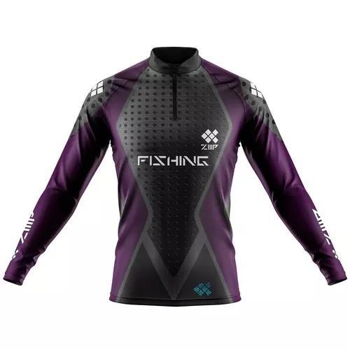 Camisa de pesca ziiip proteção solar uv 50 fps cp019rx