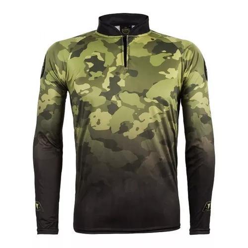 Camiseta de pesca proteção solar uv king atack 01