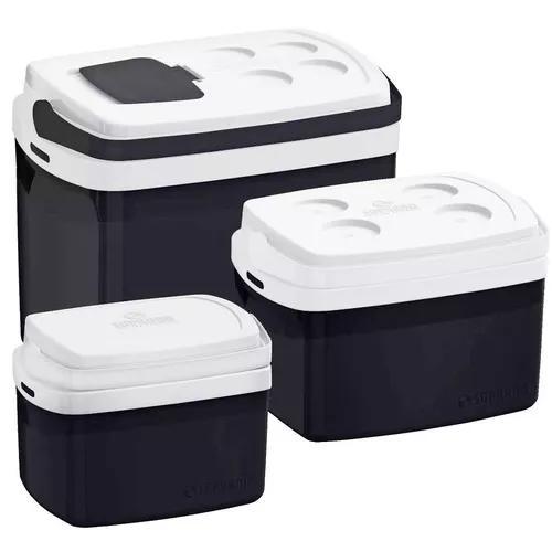 Combo 3 cooler 32, 12, 5 litros cores caixa térmica soprano
