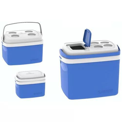 Combo de caixas térmica com alça 32/12/5 litros azul