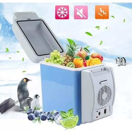 Geladeira cooler portátil 12v 7.5l uber táxi carro viag