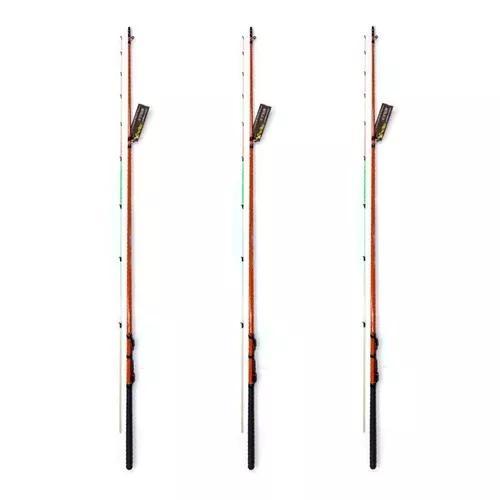 Kit 3 varas pesca ultra light com 1,80 metros tucumã xingu