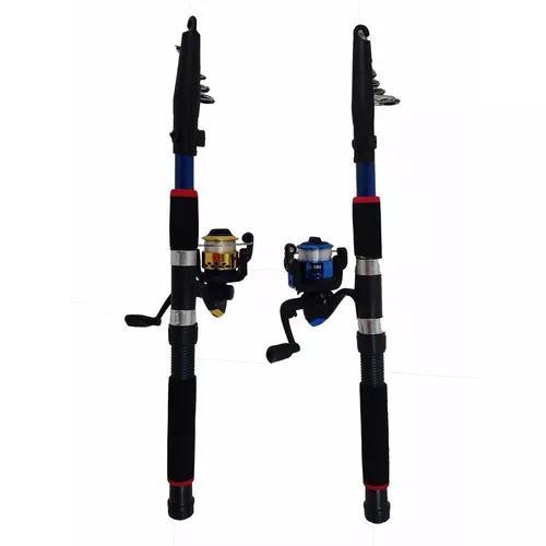 Kit pesqueiro 1 vara 3,0m 1 molinete 2 rolamentos 100m linha