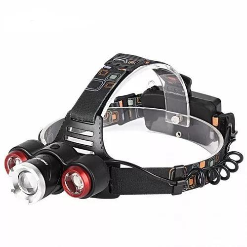 Lanterna de cabeça t6 led cree profissional tática